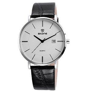 Relógio Masculino Skone Analógico 9307BG Prata-