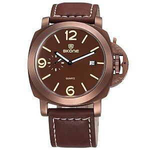 Relógio Masculino Skone Analógico 9408EG Bronze-