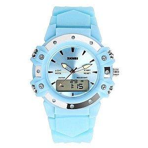 Relógio Feminino Skmei AnaDigi 0821 - Azul Claro