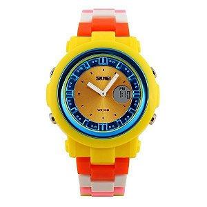 Relógio Feminino Skmei Anadigi 1062 Colorido-