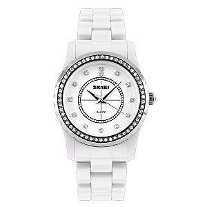 Relógio Feminino Skmei Analógico 1158 Branco-