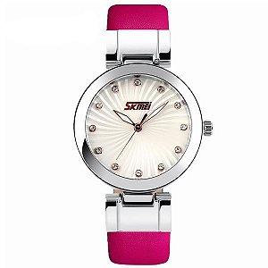 Relógio Feminino Skmei Analógico 9086 Rosa-