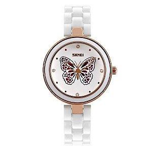 Relógio Feminino Skmei Analógico 9131 Branco