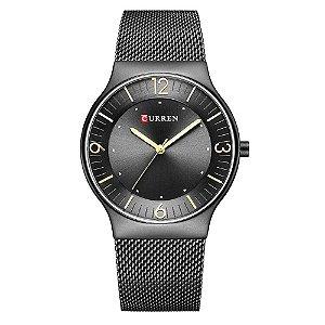 Relógio Feminino Curren Analógico 8304 - Preto