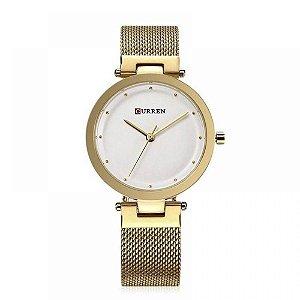 Relógio Feminino Curren Analógico C9005L - Dourado