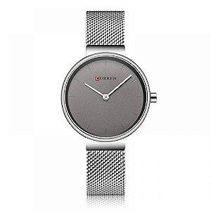 Relógio Feminino Curren Analógico C9016L - Prata
