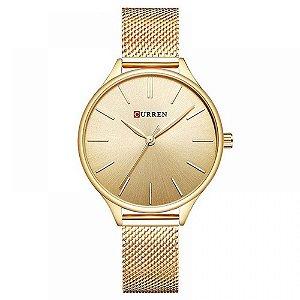 Relógio Feminino Curren Analógico C9024L - Dourado