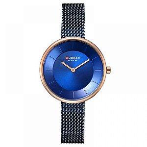 Relógio Feminino Curren Analógico C9030L - Azul