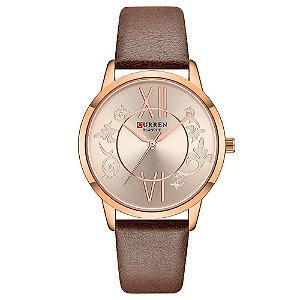 Relógio Feminino Curren Analógico C9049L - Rose e Marrom