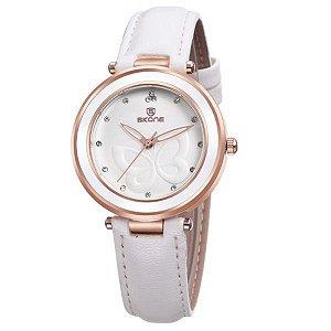 Relógio Feminino Skone Analógico 9294 Branco-