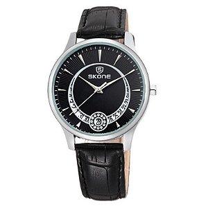 Relógio Feminino Skone Analógico Casual 9242BG Preto-