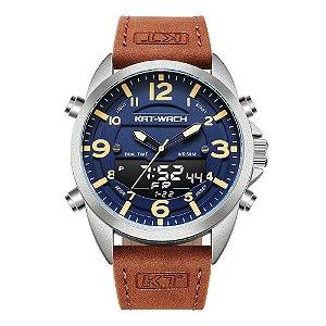 Relógio Masculino Kat-Wach AnaDigi KT1818 - Marrom e Azul