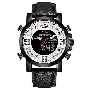 Relógio Masculino Kat-Wach AnaDigi KT1845 - Preto e Branco