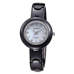 Relógio Feminino Weiqin Analógico Cerâmica W3206 Branco-