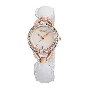 Relógio Feminino Weiqin Analógico W4385 Dourado-