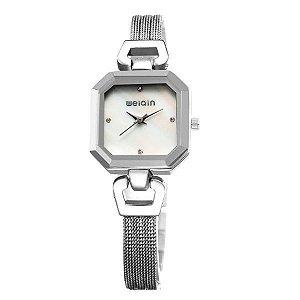 Relógio Feminino Weiqin Analógico W4751 Branco-