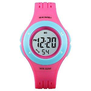Relógio Infantil Skmei Digital 1455 Rosa e Azul