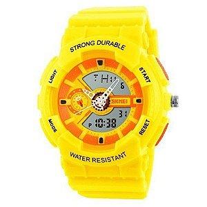 Relógio Infantil Skmei Anadigi 1052 Amarelo-