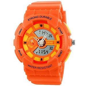 Relógio Infantil Skmei Anadigi 1052 Laranja-