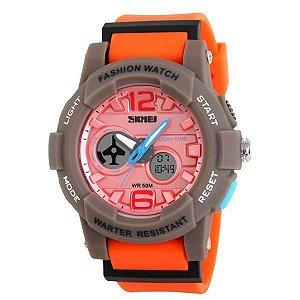 Relógio Infantil Skmei Anadigi 1120 Rosa-