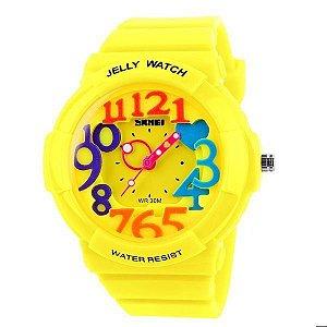 Relógio Infantil Skmei Analógico 1042 Amarelo-