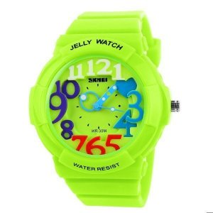 Relógio Infantil Skmei Analógico 1042 Verde-