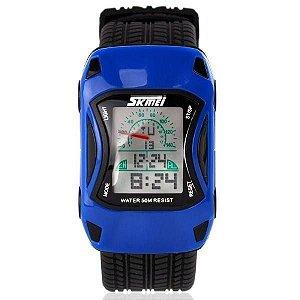 Relógio Infantil Menino Skmei Digital 0961 - Azul