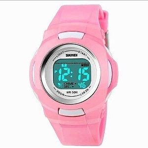Relógio Infantil Menina Skmei Digital 1094 - Rosa
