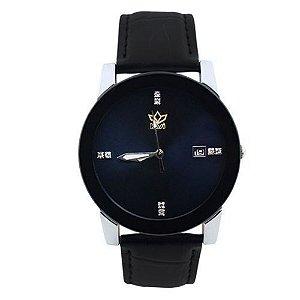 Relógio Unissex Kasi/Fmero Analógico Casual Y006 Preto-