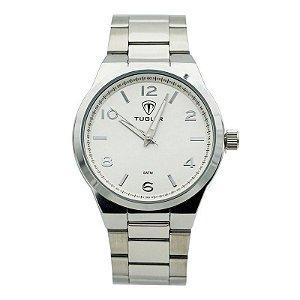 Relógio Unissex Tuguir Analógico 5440G - Prata e Branco-
