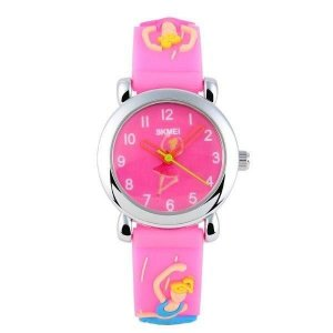Relógio Infantil Menina Skmei Analógico 1047 - Rosa