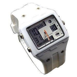 Relógio Unissex Kasi/Fmero AnaDigi Esporte 1083 Branco-