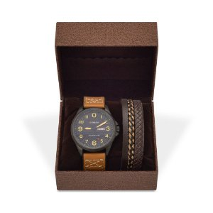 Kit Relógio Masculino Curren Analógico 8269 e Pulseira de Couro