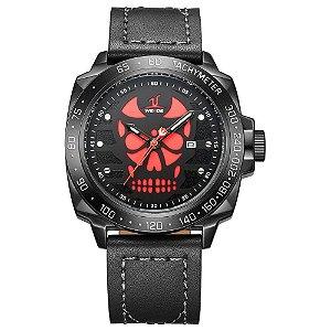 Relógio Masculino Weide Analógico UV-1510 - Preto e Vermelho