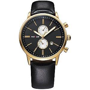 Relógio Masculino Weide Analógico WH-3302 - Preto e Dourado