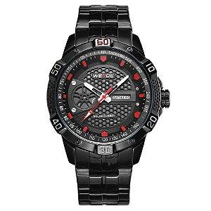 Relógio Masculino Weide Analógico SE0707 - Preto e Vermelho
