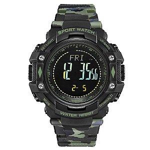Relógio Pedômetro Masculino Weide Digital WA9J001 - Verde Camuflado