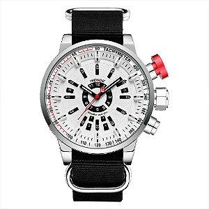 Relógio Masculino Weide Analógico WH7306 - Branco e Preto