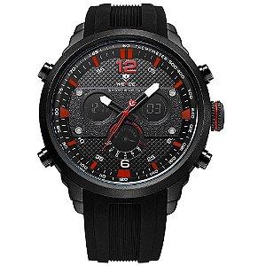 Relógio Masculino Weide AnaDigi WH6303 - Preto e Vermelho