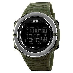 Relógio Masculino Skmei Digital 1209 - Verde e Prata