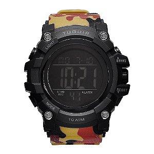 Relógio Masculino Tuguir 10ATM Digital TG109 - Camuflado