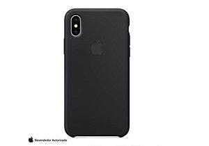 Capa de Silicone Celular Apple Iphone X Preta