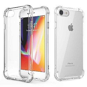 Capa de Silicone Celular Iphone 7 Plus Transparente Borda Anti-Impacto