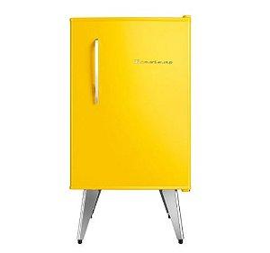 Frigobar Retrô 76 litros Amarelo