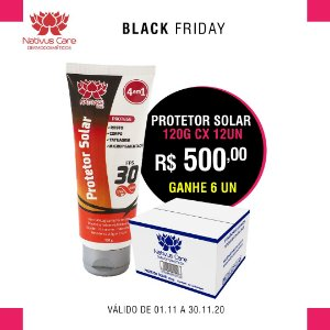 BLACK FRIDAY Protetor Solar toque seco 120g cx 12un ganhe 6 un