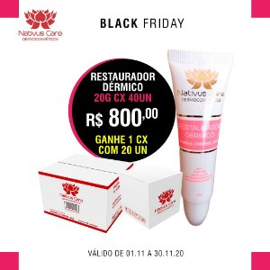 black friday Restaurador Dérmico 20g cx 40 un ganhe 1 cx 20 un