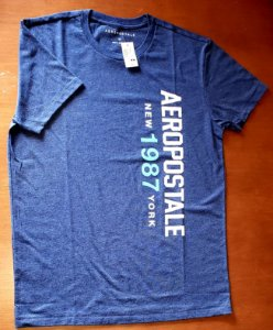 Camiseta Original Aeropostale - Cor Azul - Tamanho M