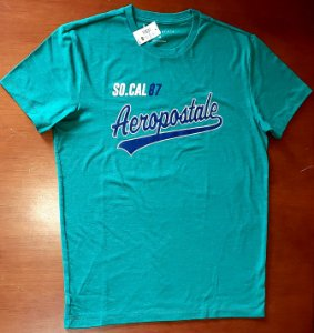 Camiseta Original Aeropostale - Cor Verde - Tamanho M