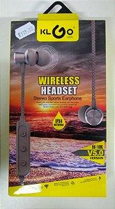 FONE DE OUVIDO WIRELESS HEADSET HK-10BL AZUL