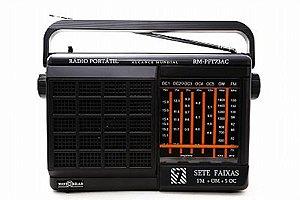 RM-PFT73AC-RÁDIO PORTÁTIL 7 FAIXAS-FM+OM+5OC